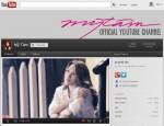 Một phần giao diện của trang YouTube riêng của Mỹ Tâm tại youtube.com/user/MyTamTube